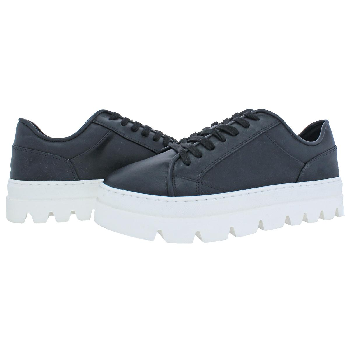 Steve-Madden-Kickstart-Women-039-s-Faux-Leather-Fashion-Lace-Sneaker-Shoes thumbnail 6
