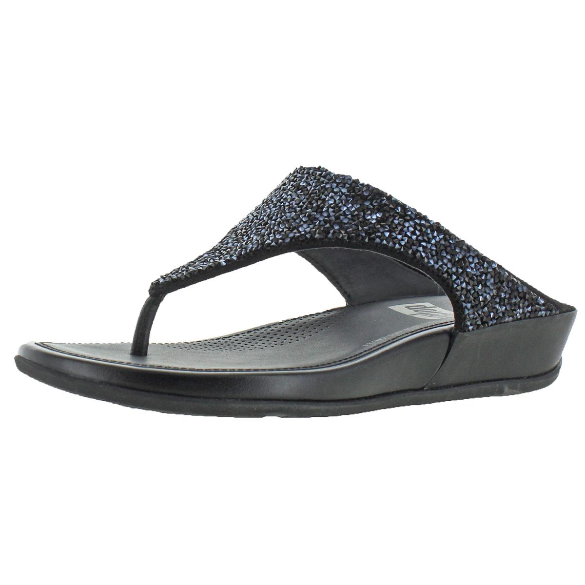 06820876222089 Details about FitFlop Banda Roxy Women s Leather Embellished Toning Thong  Sandals