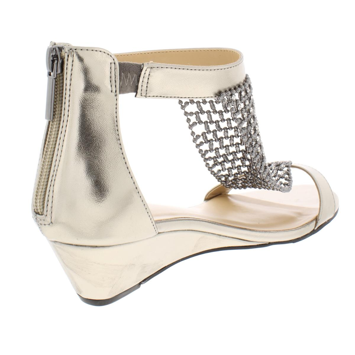 Thalia-Sodi-Womens-Tibby-T-Strap-Embellished-Wedge-Sandals-Shoes-BHFO-5842 thumbnail 6