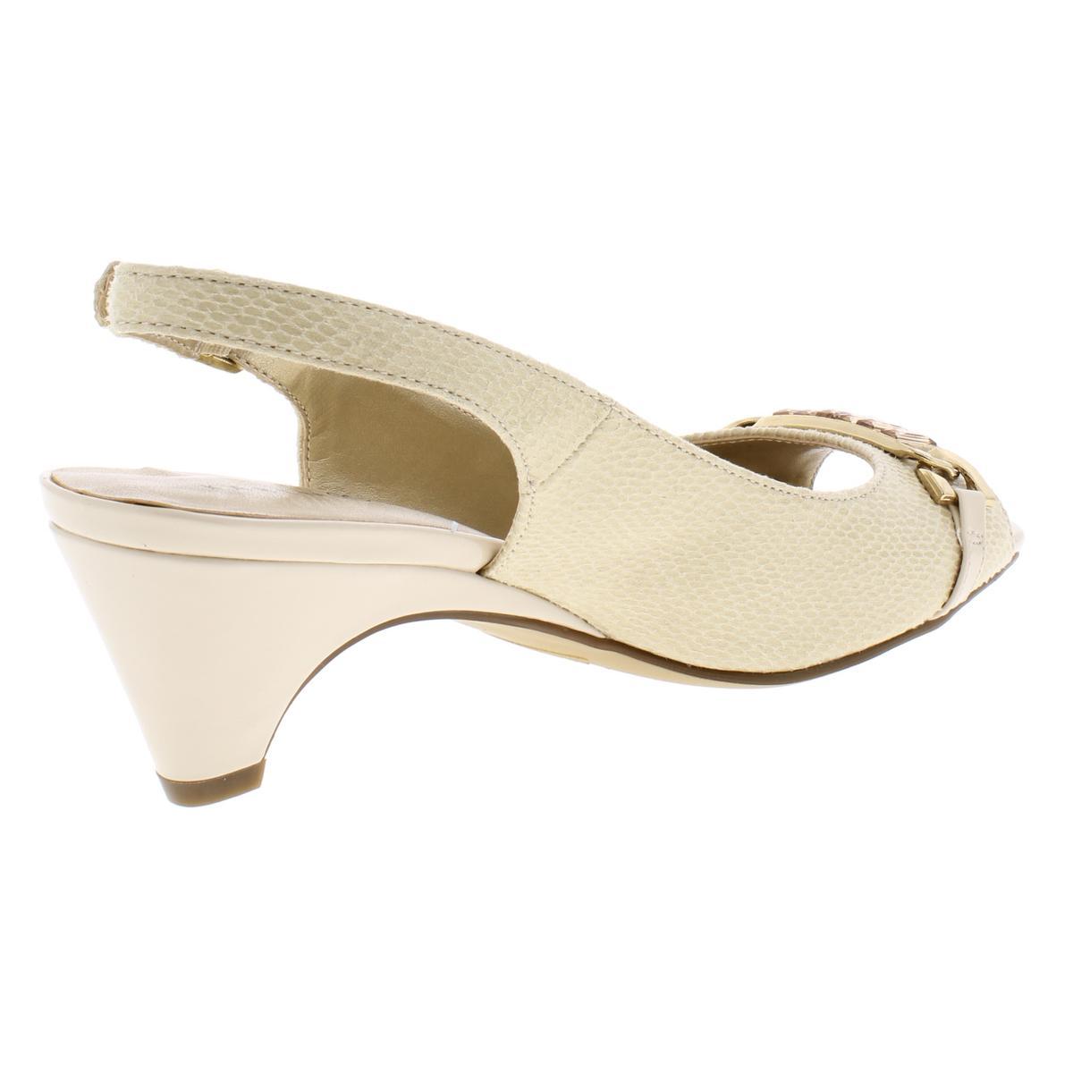 Karen-Scott-Womens-Anyaa-Patent-Square-Toe-Slingback-Heels-Shoes-BHFO-5914 thumbnail 4