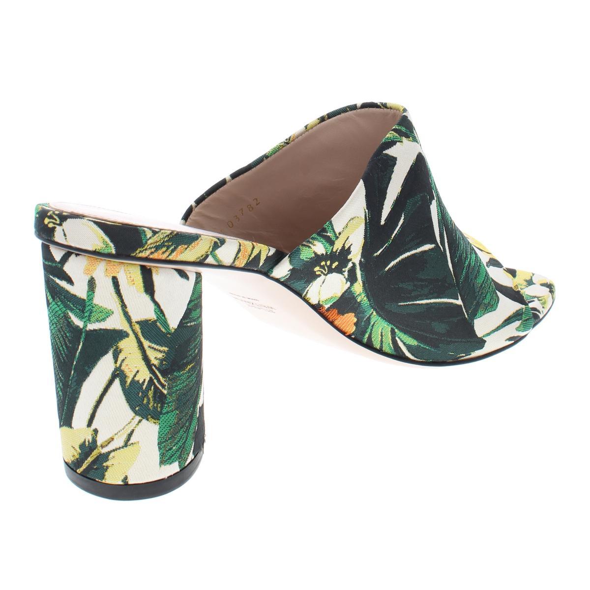Stuart-Weitzman-Womens-Slide-On-Jacquard-Slide-Sandals-Heels-BHFO-5173 thumbnail 6