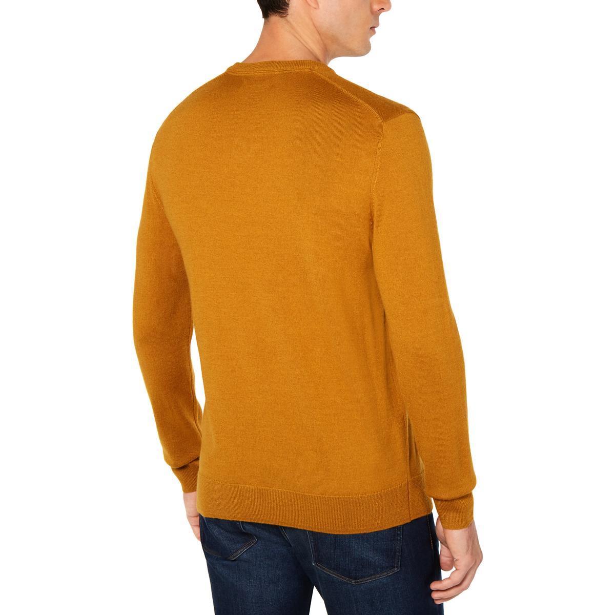 Club-Room-Men-039-s-Merino-Wool-Long-Sleeve-V-Neck-Pullover-Sweater miniatura 7