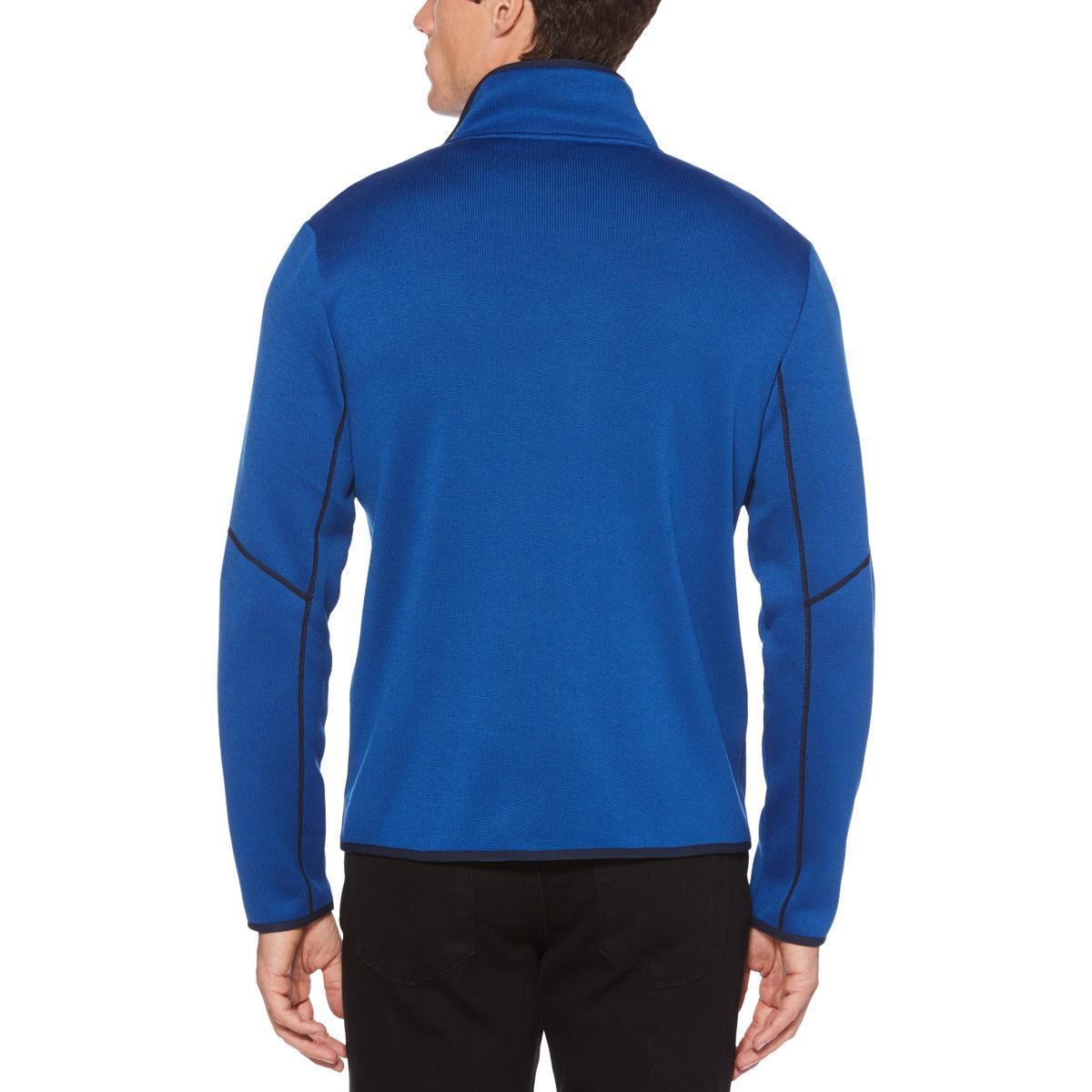 41d9ae4de0 Perry Ellis Mens Fleece Warm Knit Full Zip Sweater BHFO 9653