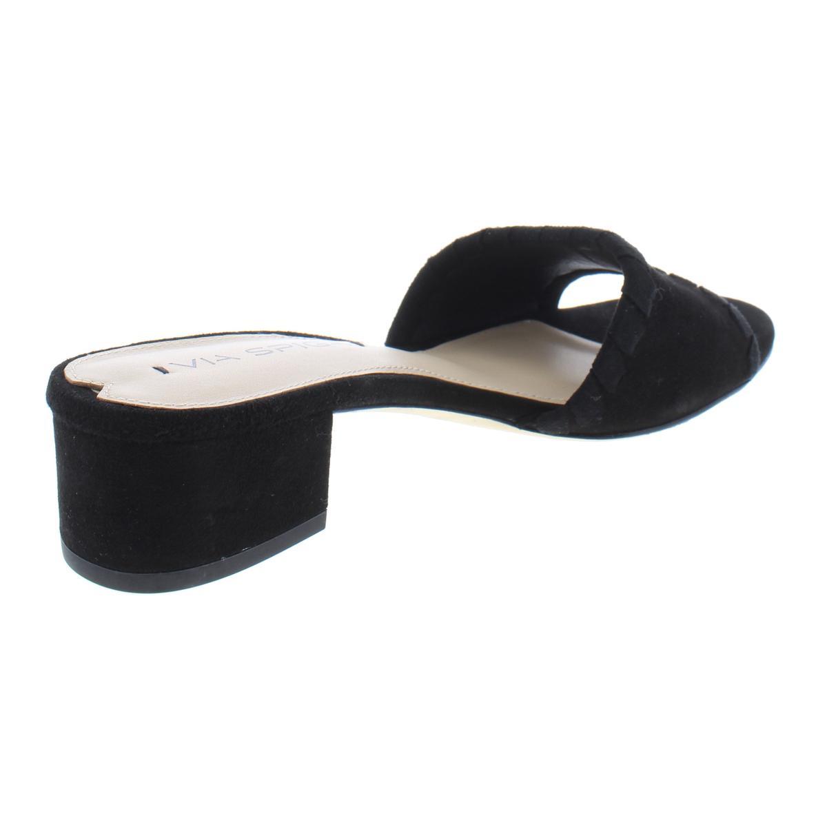 Via-Spiga-Womens-Gwendolyn-Suede-Block-Heel-Slide-Dress-Sandals-Shoes-BHFO-1935 thumbnail 4