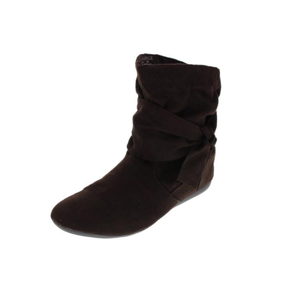 rage new beckett black faux suede slouchy ankle boots 7