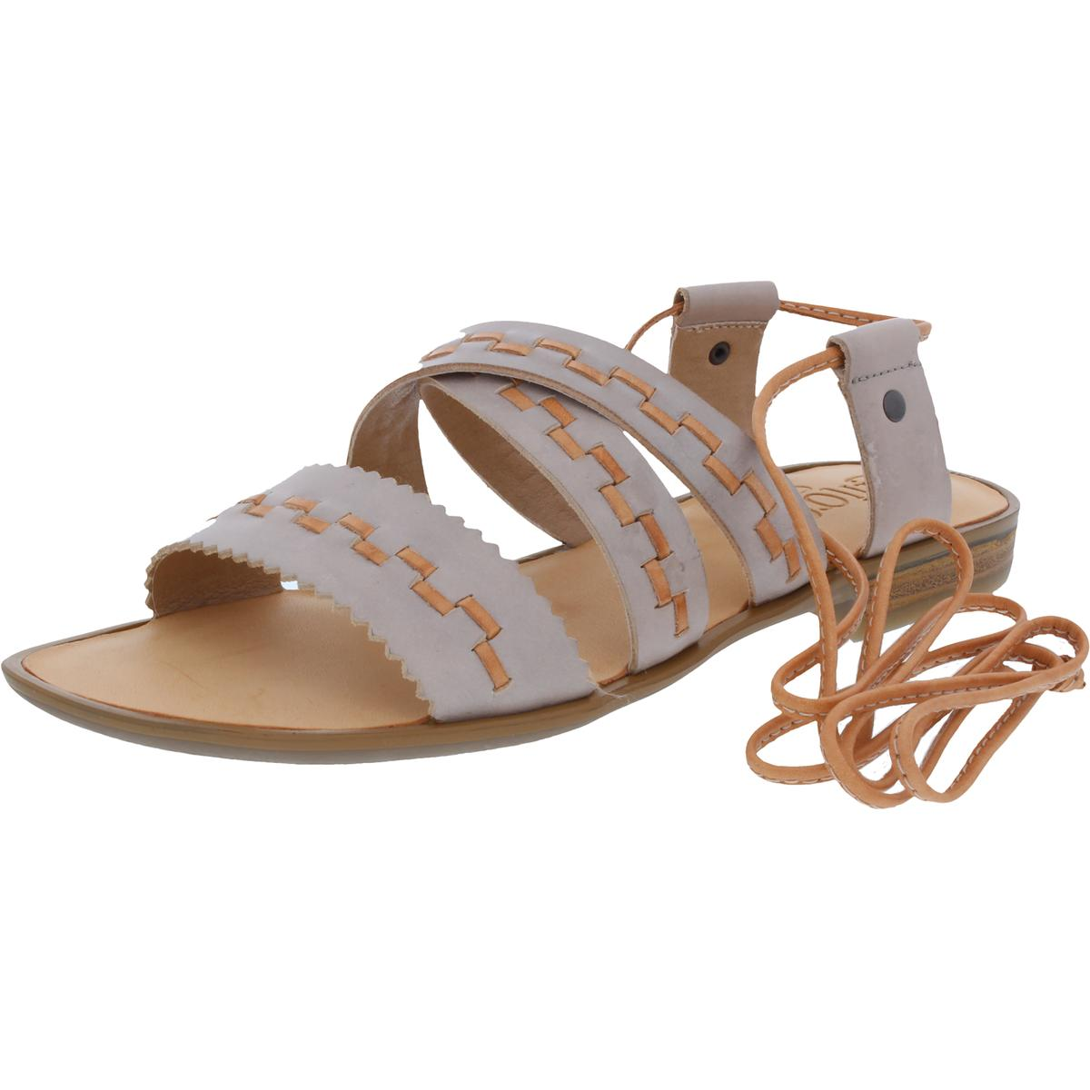 20c7dafa8fec Details about Latigo Womens Gem Open Toe Criss Cross Lace Up Flat Sandals  Shoes BHFO 3744