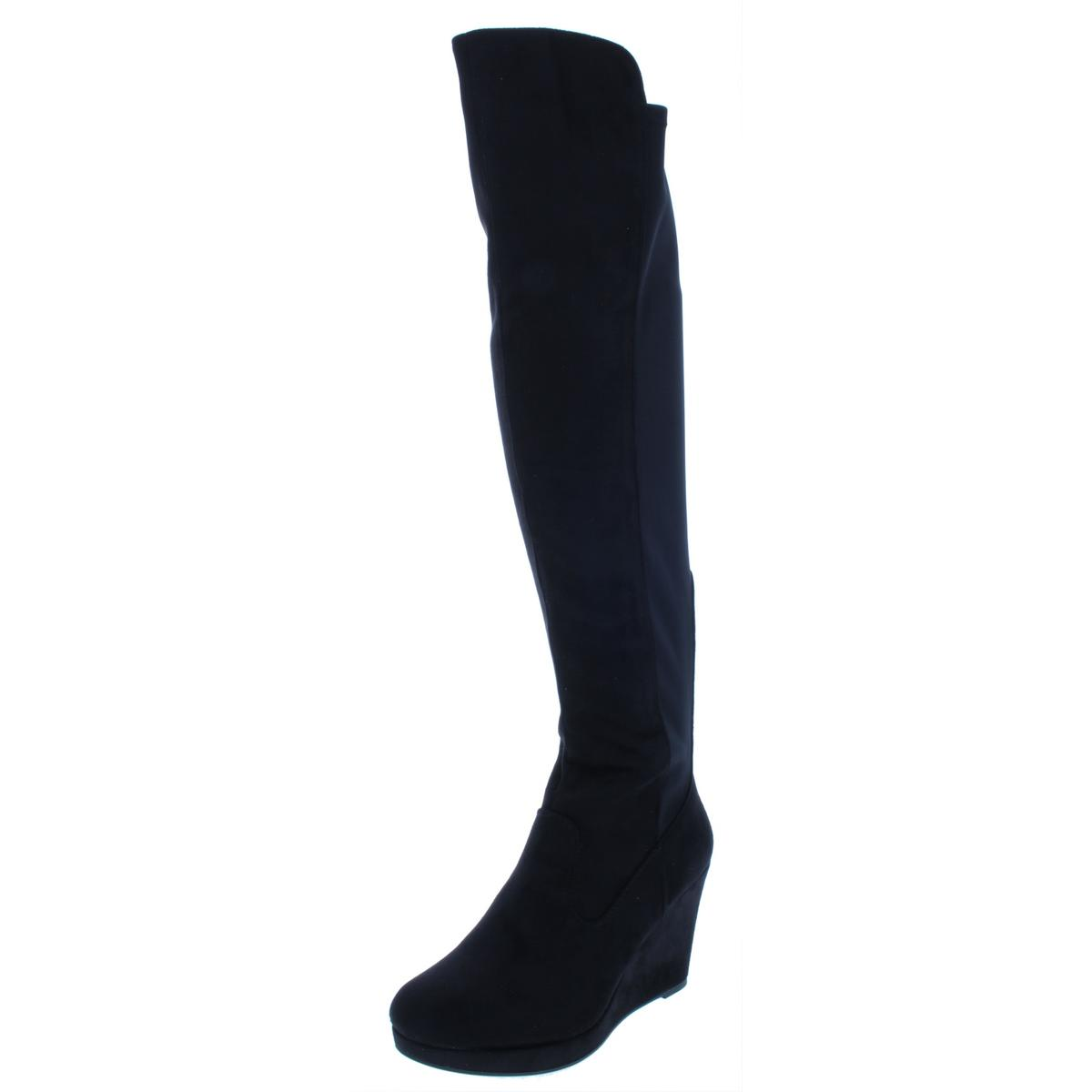 Chinese Laundry Donna Donna Donna Lovey Faux Suede Wedges Knee-High Stivali Shoes BHFO 5496 023962