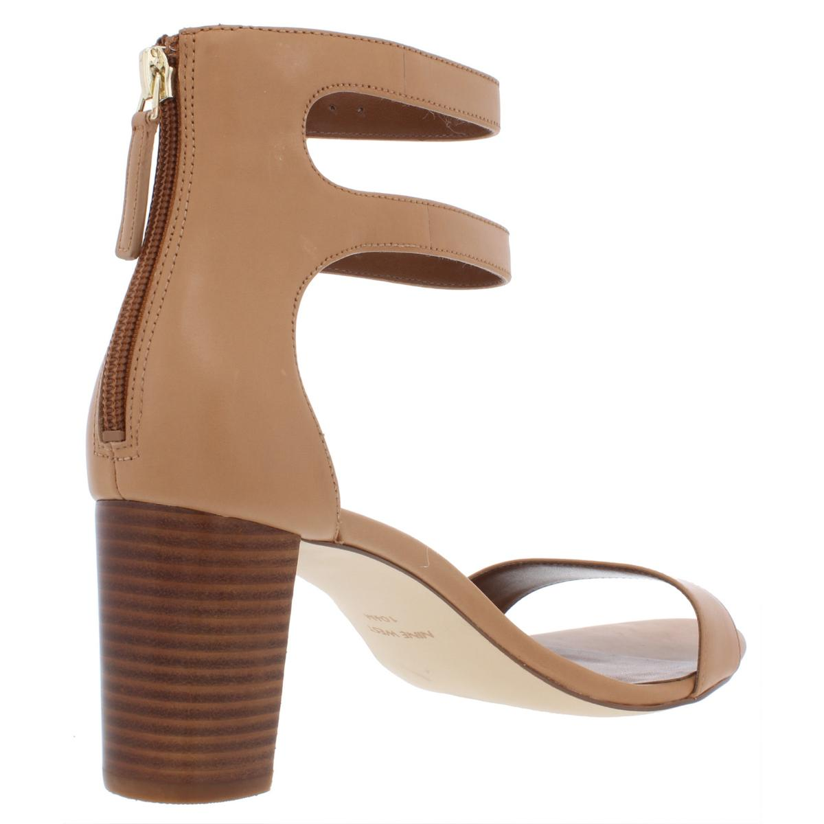 Nine-West-Womens-Parlans-Leather-Strappy-Dress-Sandals-Evening-BHFO-8899 thumbnail 6