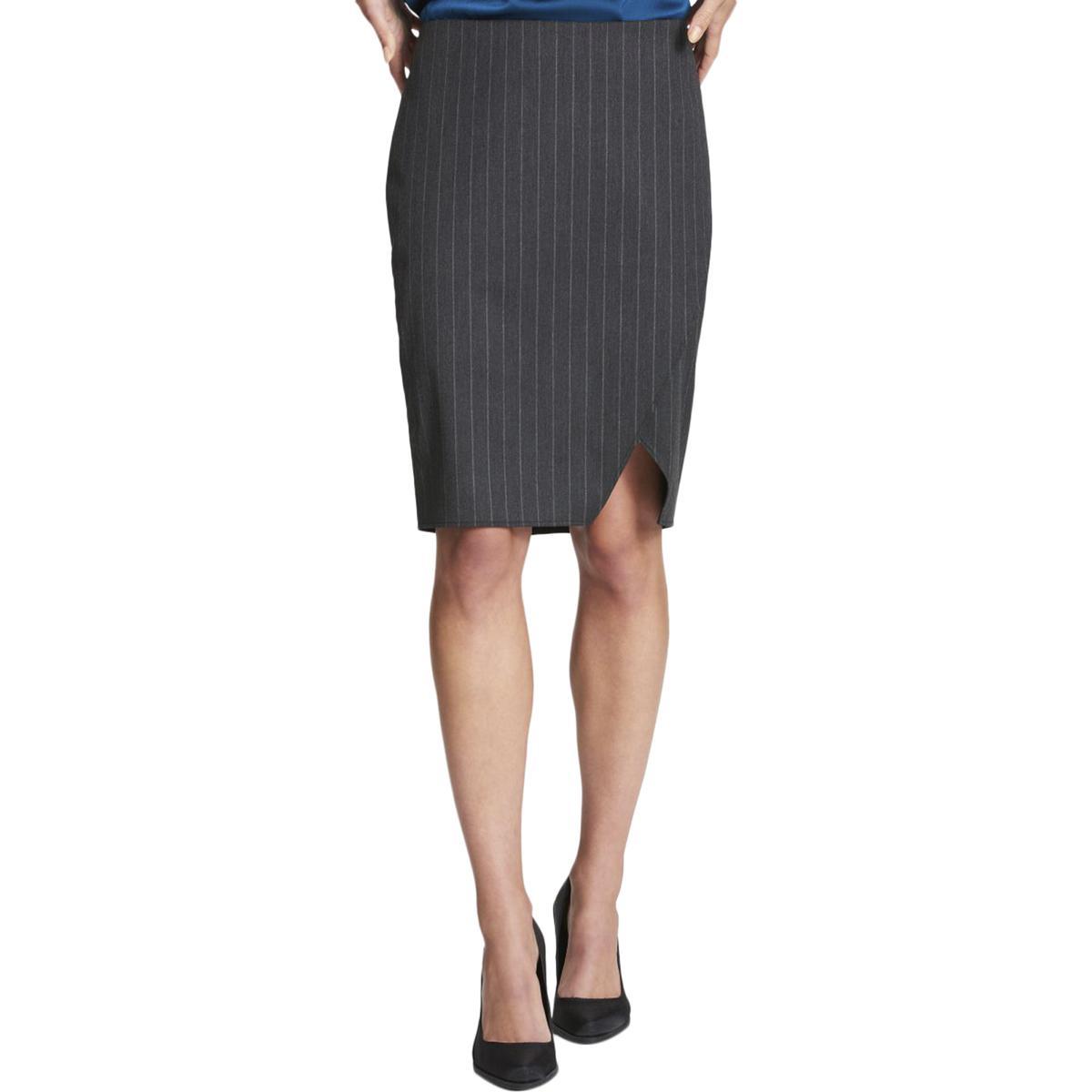 9d8324b35 Details about DKNY Womens Professional Knee-Length Pinstripe Pencil Skirt  BHFO 1515