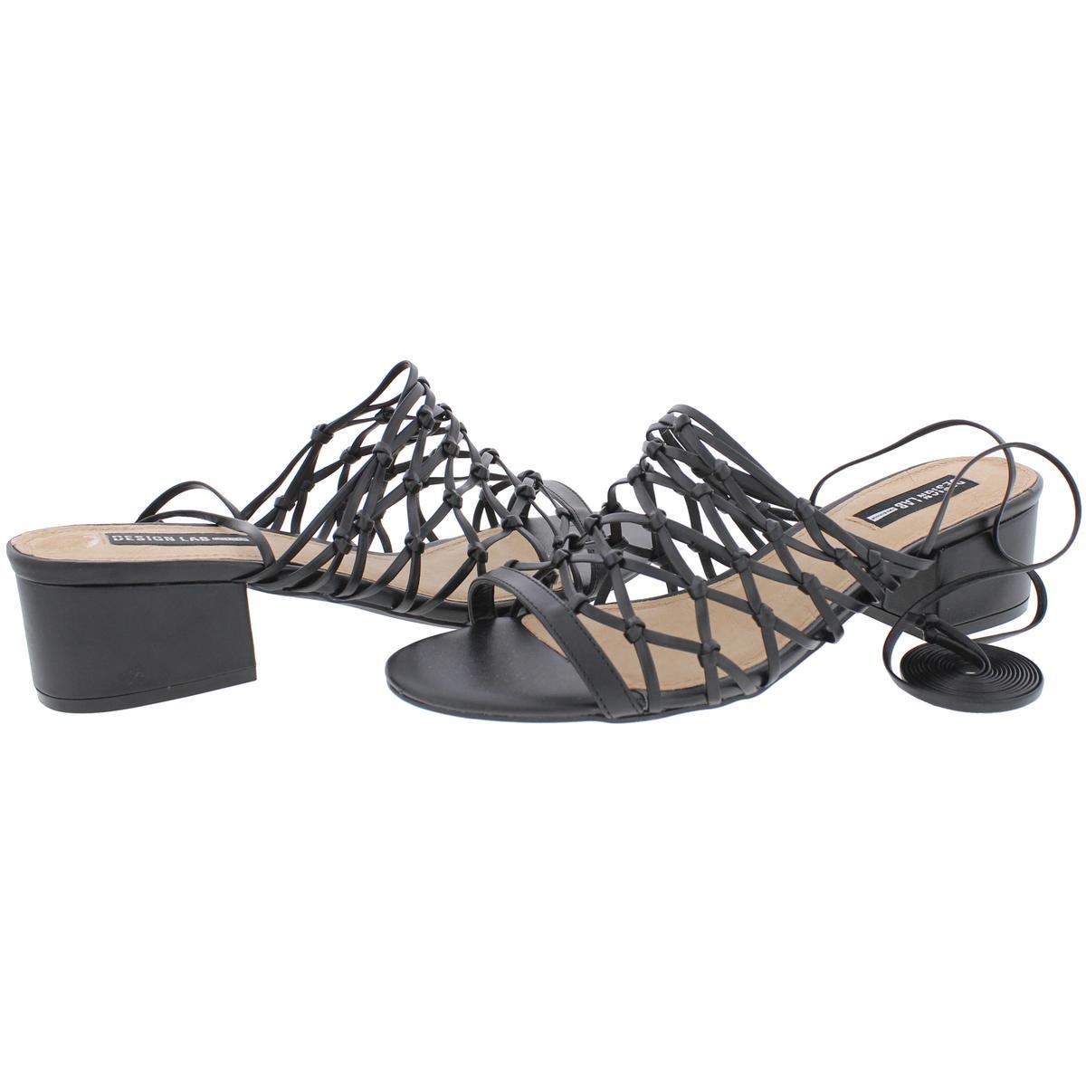 Design-Lab-Womens-Mya-Wrap-Open-Toe-Dress-Heels-Shoes-BHFO-2941 thumbnail 7