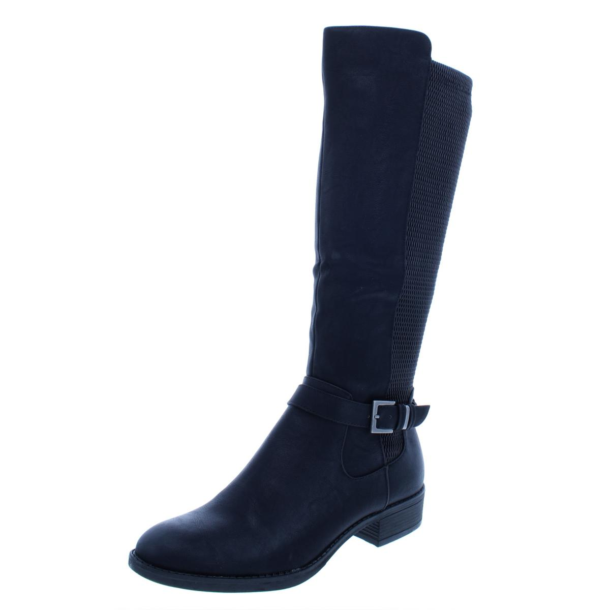 Style & Co. Womens Luciaa Faux Leather Knee-High Riding Boot