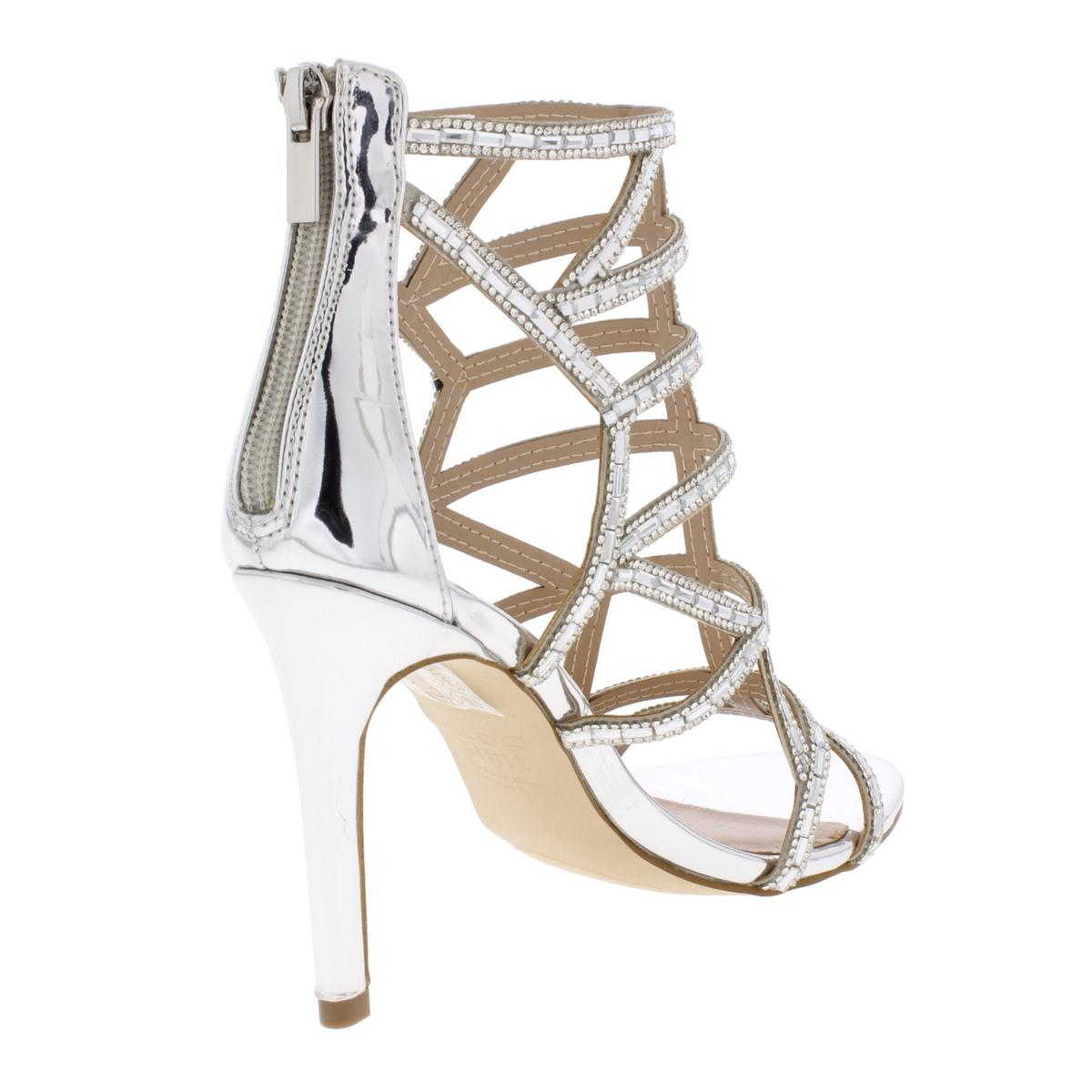 Aldo Womens Norta Metallic Patent Caged Evening Sandals