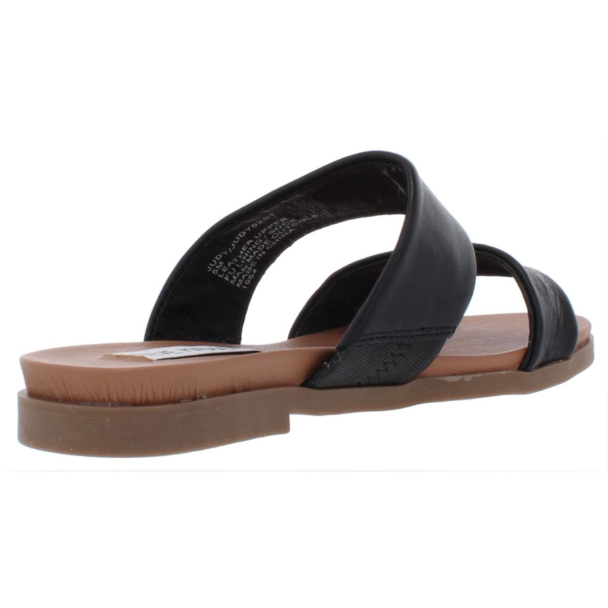 Steve-Madden-Womens-Judy-Leather-Sandals-Flats-Shoes-BHFO-7653 thumbnail 4