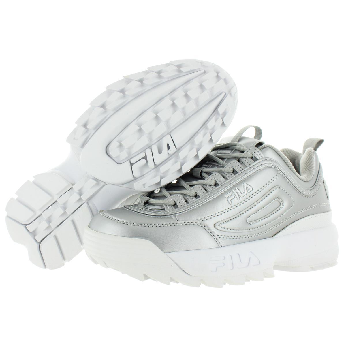 Fila-Womens-Disruptor-II-Premium-Metallic-Trainers-Sneakers-Shoes-BHFO-5237 thumbnail 7