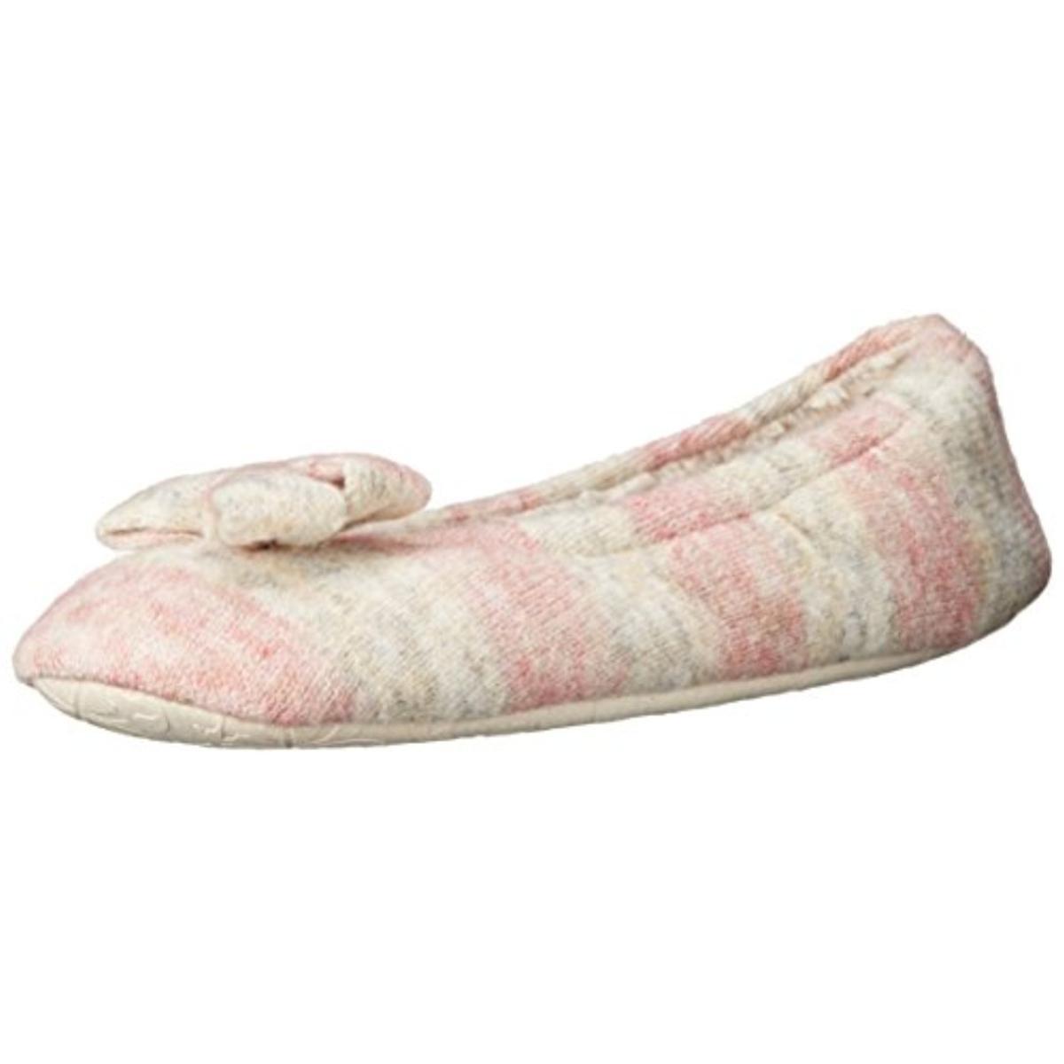 bedroom athletics 6170 womens katy knit flats slip on ballet slippers bhfo ebay. Black Bedroom Furniture Sets. Home Design Ideas