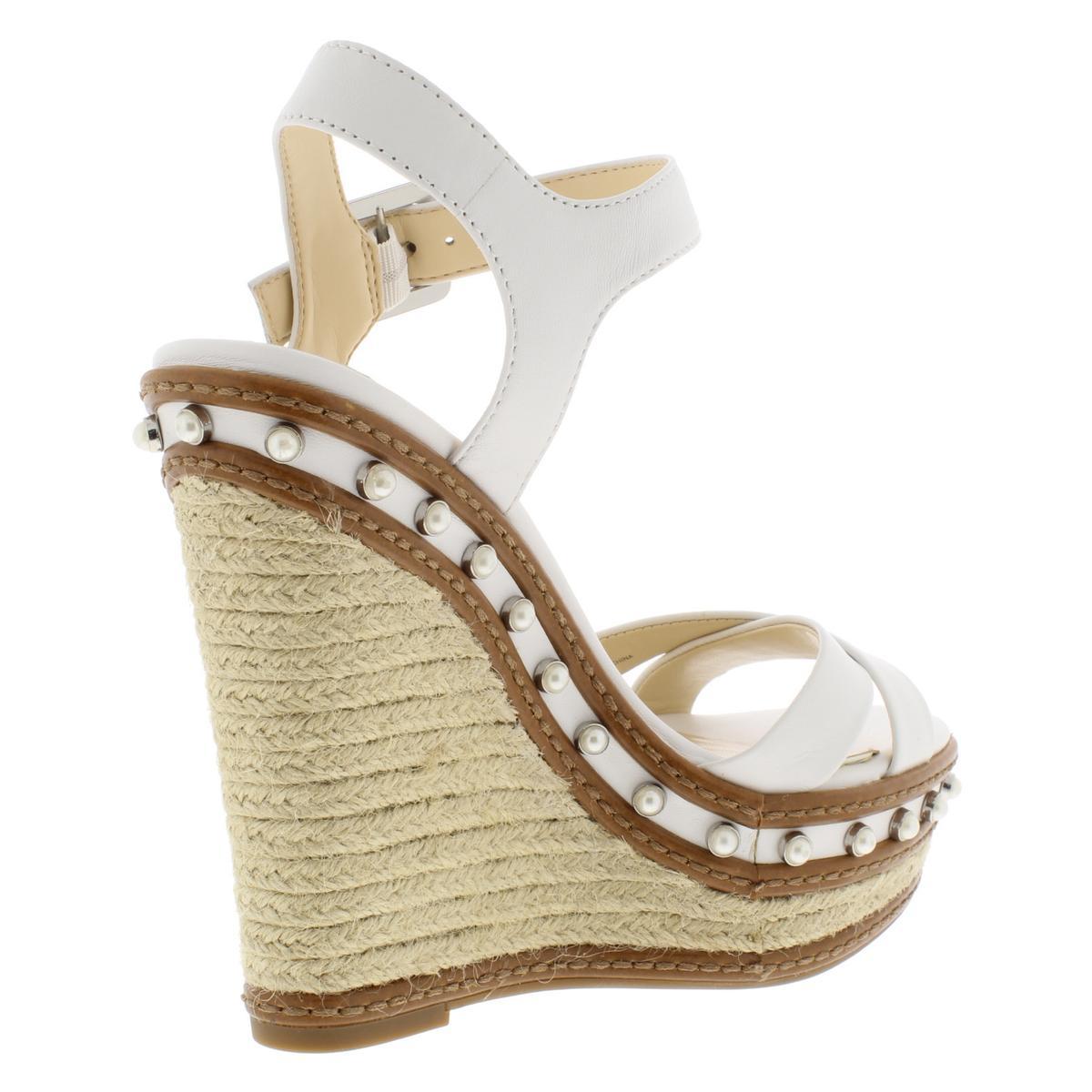 Jessica-Simpson-Womens-Aeralin-Leather-Espadrilles-Wedges-Shoes-BHFO-6006 thumbnail 6