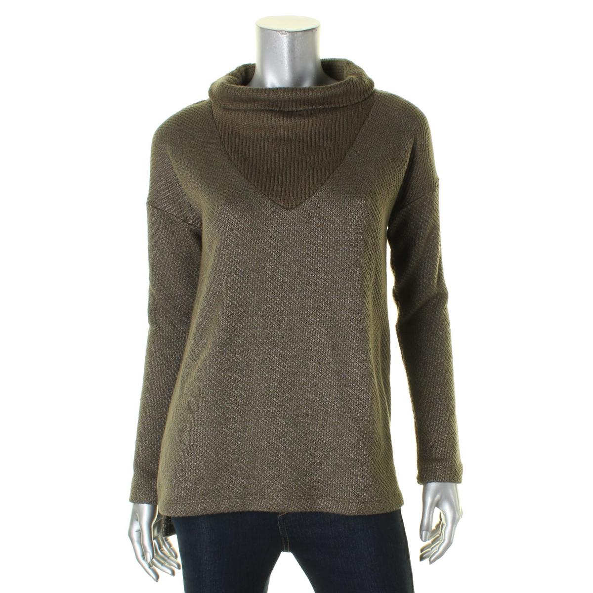 Sanctuary-Womens-Dunaway-Two-Tone-Long-Sleeves-Pullover-Sweater-Top-BHFO-9575 thumbnail 4