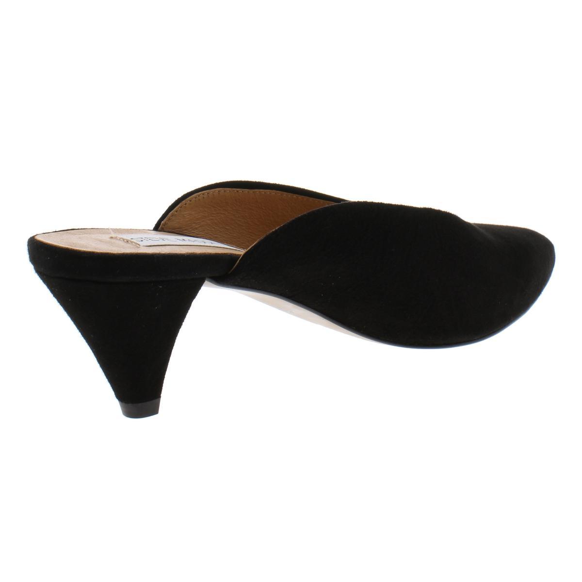 Steve-Madden-Womens-Fiesta-Leather-Pointed-Toe-Dress-Mules-Heels-BHFO-0632 thumbnail 4
