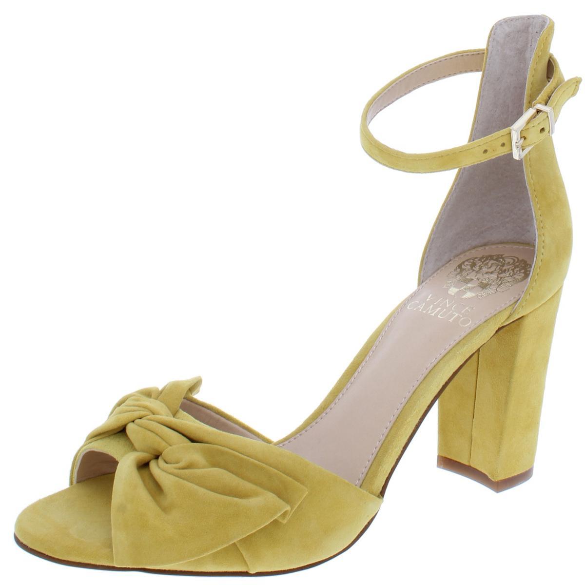 e39c1e4e799 Details about Vince Camuto Womens Carrelen Suede Block Heel Dress Sandals  Shoes BHFO 8162