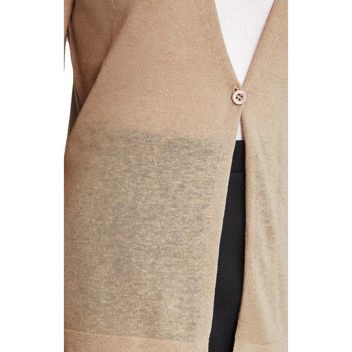 BCBGMAXAZRIA Linen-Blend Cardigan