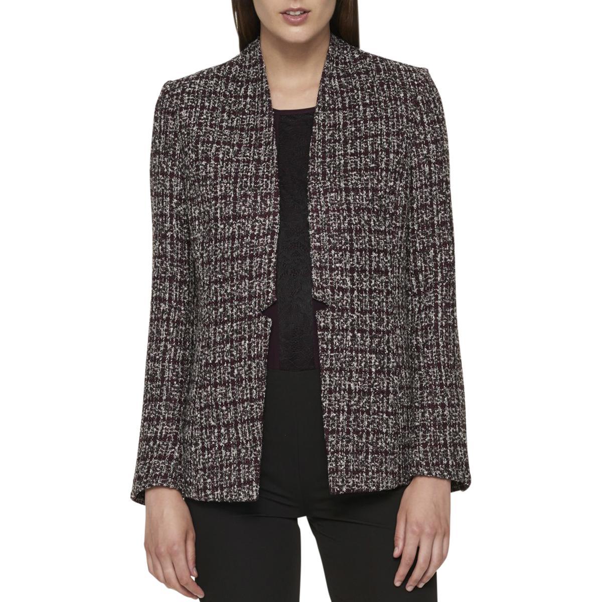 b14f7f0d Tommy Hilfiger Womens Tweed Office Open-Front Blazer Jacket BHFO 5080  Anzüge & Anzugteile