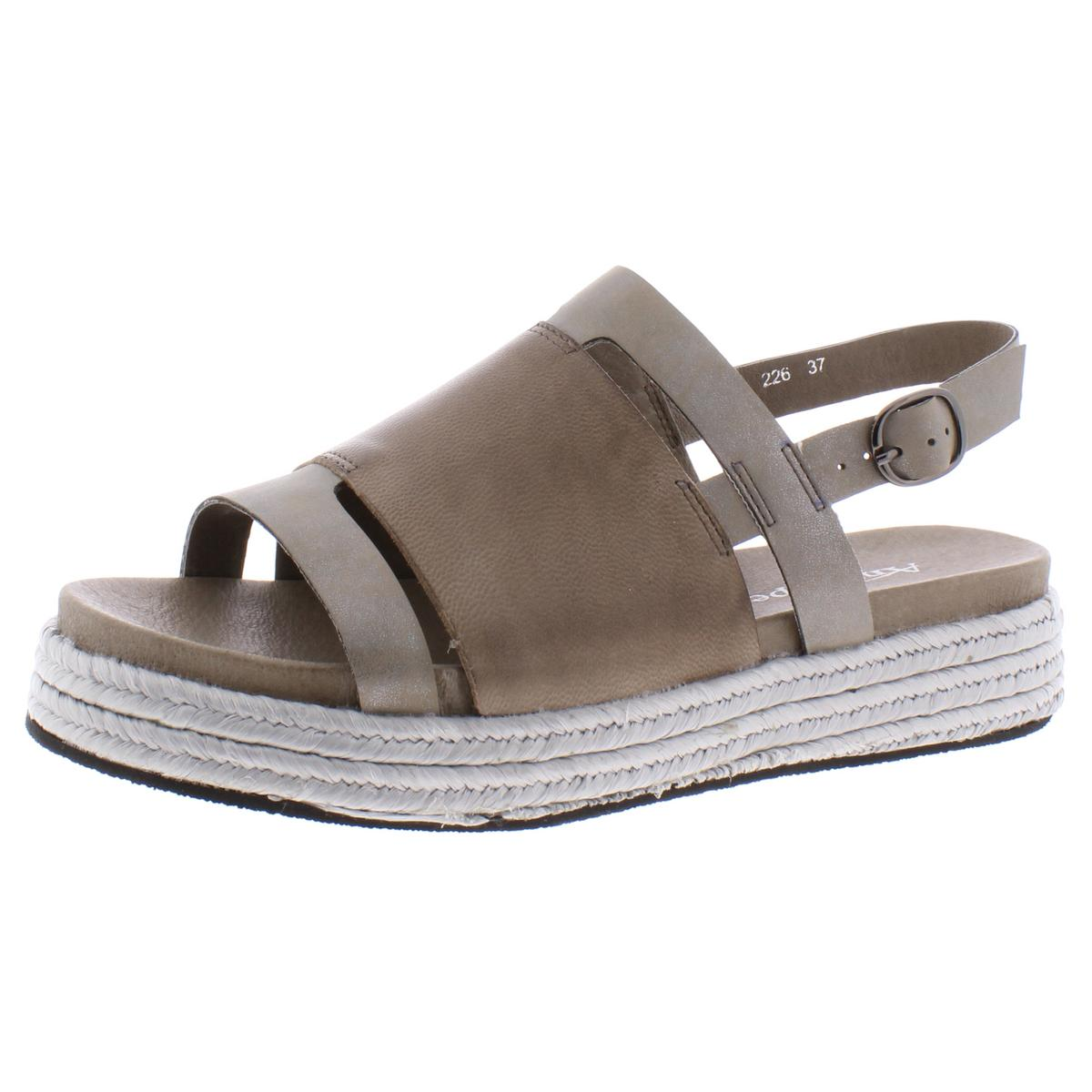 Antelope Womens Leather Slingback Wedge Flatform Sandals Platforms BHFO  1551 | eBay