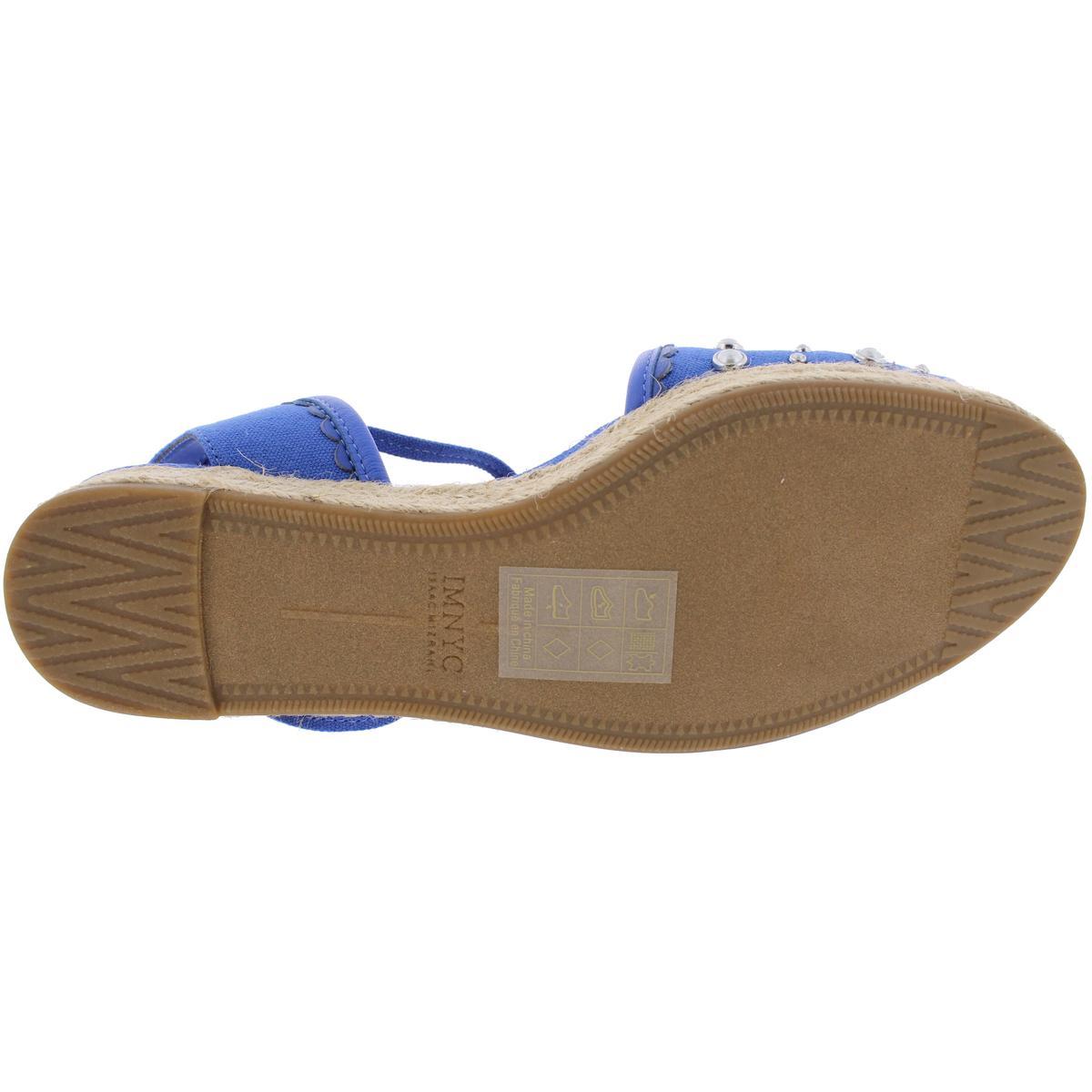 IMNYC-Isaac-Mizrahi-Womens-Hilda-Canvas-Flat-Sandals-Espadrilles-Shoes-BHFO-2640 thumbnail 9