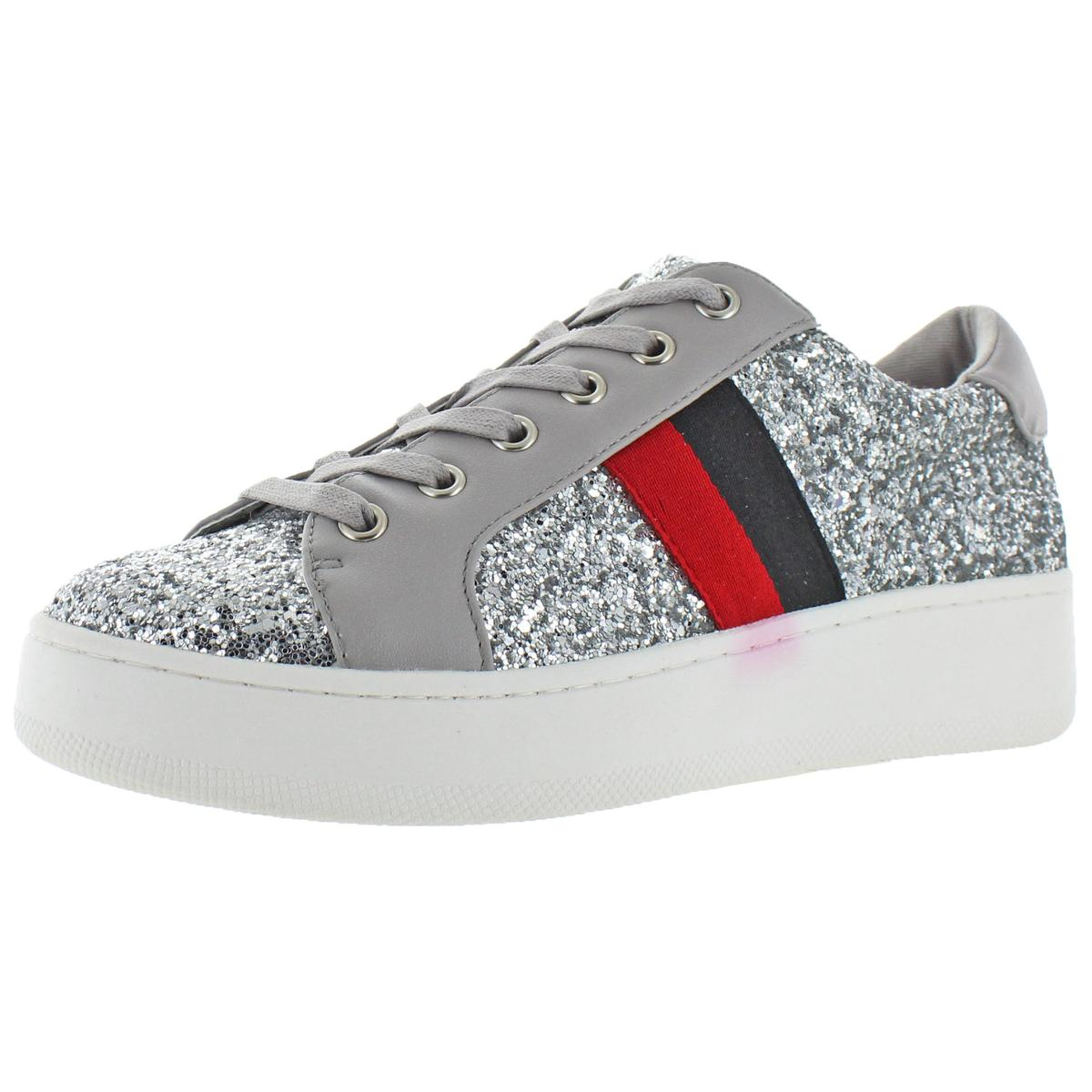 d8bf4c29b90 Details about Steve Madden Womens Belle Silver Fashion Sneakers Shoes 7  Medium (B