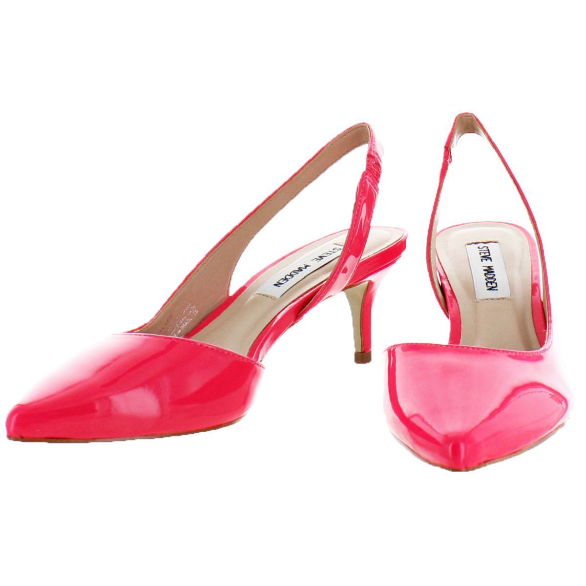 Steve-Madden-Vera-Women-039-s-Slip-On-Pointed-Toe-Half-d-039-Orsay-Slingback-Heels thumbnail 5