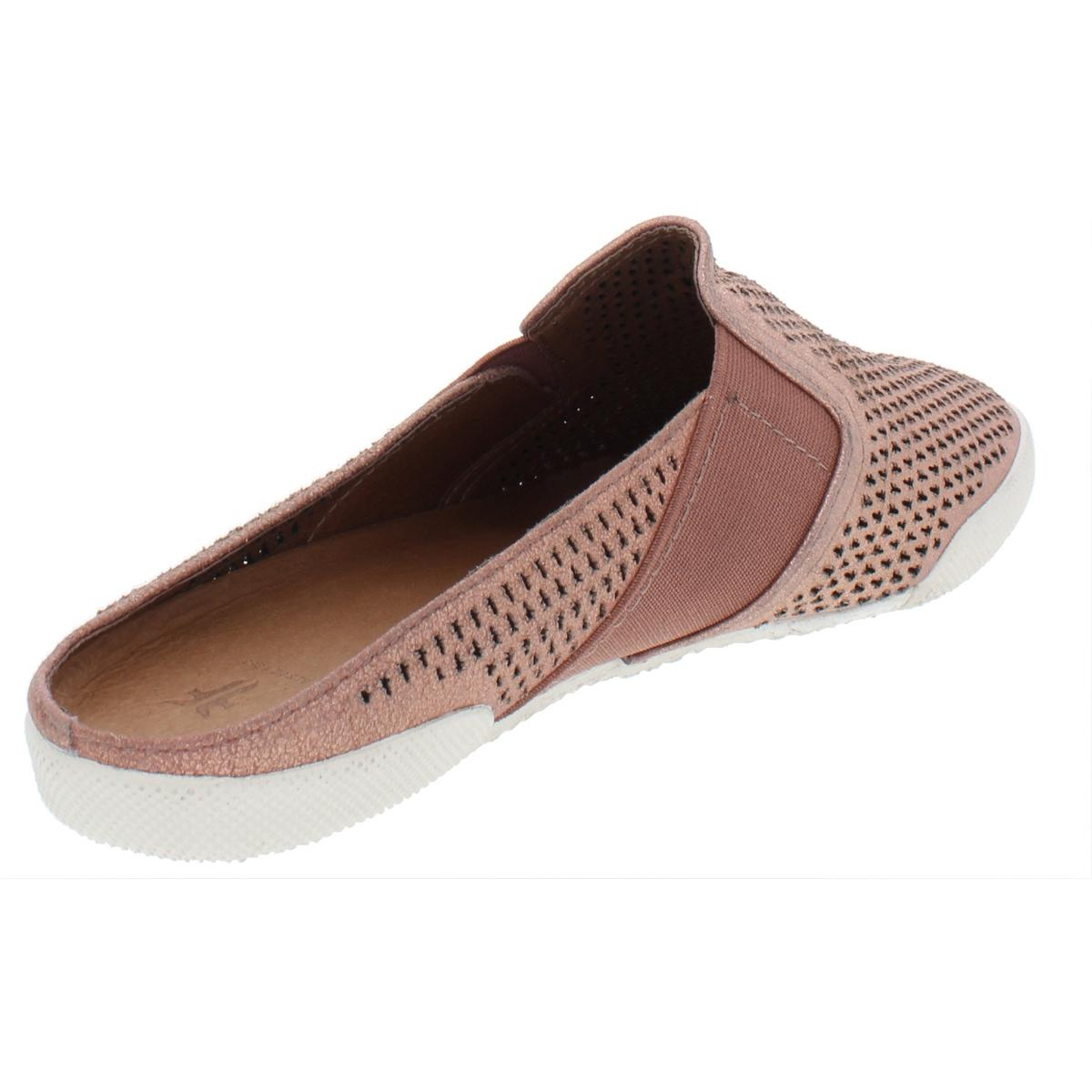 Frye-Womens-Melanie-Perforated-Suede-Flats-Mules-Shoes-BHFO-5179 thumbnail 4