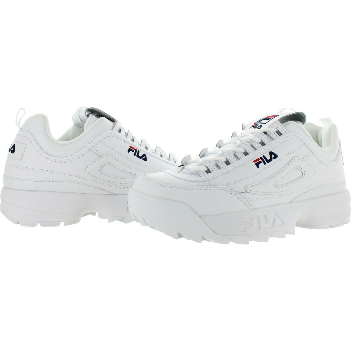 thumbnail 5 - Fila Men's Disruptor II Premium Leather EVA Retro Chunky Athletic Sneakers