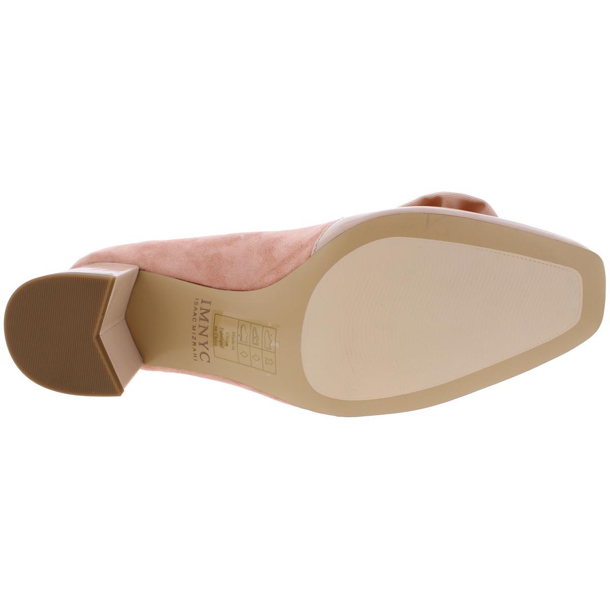 IMNYC-Isaac-Mizrahi-Womens-Julia-Square-Toe-Suede-Dress-Pumps-Shoes-BHFO-2614 thumbnail 8