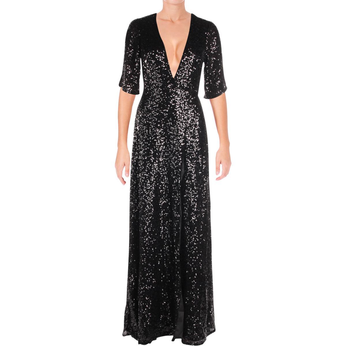 d36fbf89c8cd0 Details about Aidan by Aidan Mattox Womens Formal Black Tie Evening Dress  Gown BHFO 6078