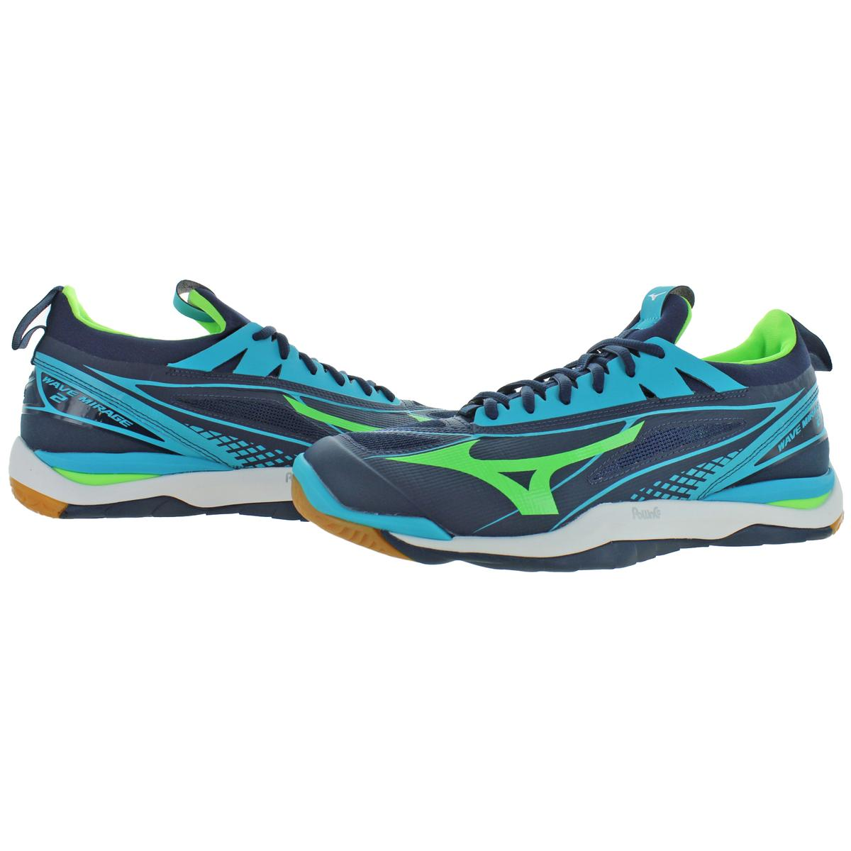 Mizuno-Mens-Wave-Mirage-2-Non-Marking-Handball-Lace-Up-Sneakers-Shoes-BHFO-9072 thumbnail 5