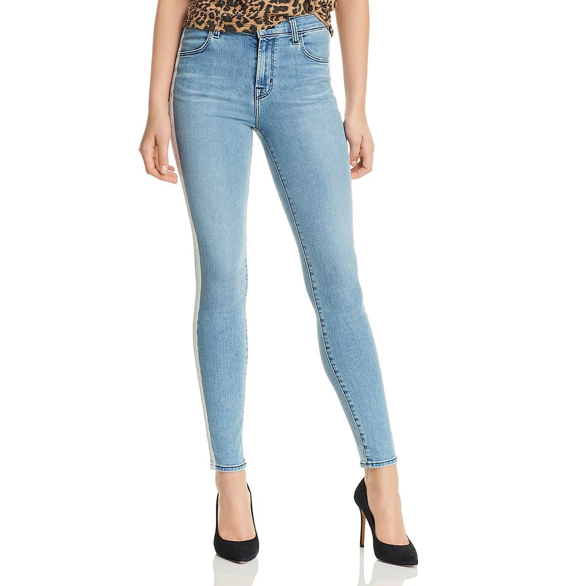 INC Womens Lace Trim Cropped Skinny Leg Jeans BHFO 3194