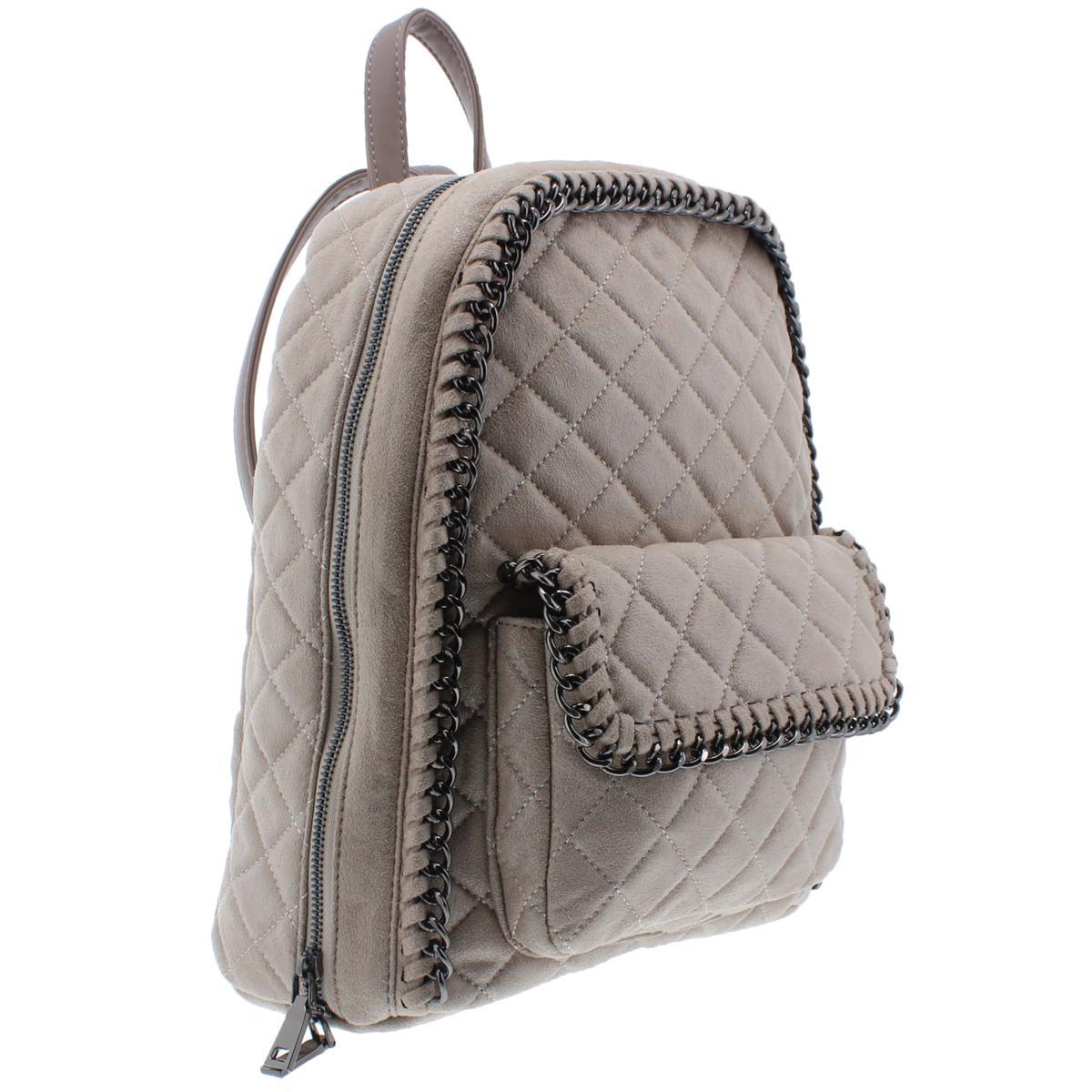 Urban-Expressions-Womens-Caleb-Vegan-Leather-Chain-Trim-Backpack-Purse-BHFO-7489 thumbnail 9