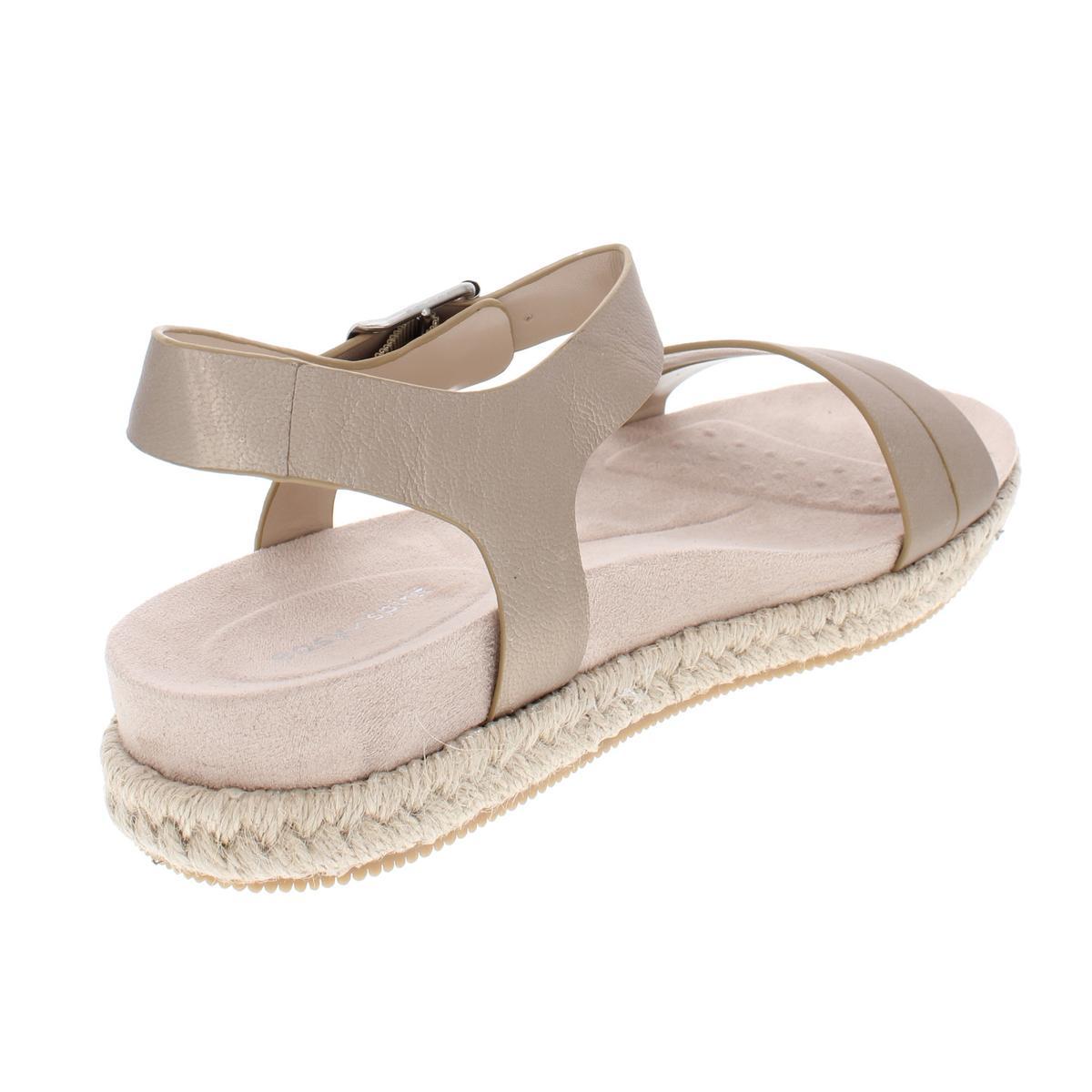 4c7be81780de Easy Spirit Womens Ixia Solid Leather Platform Espadrilles Sandals ...