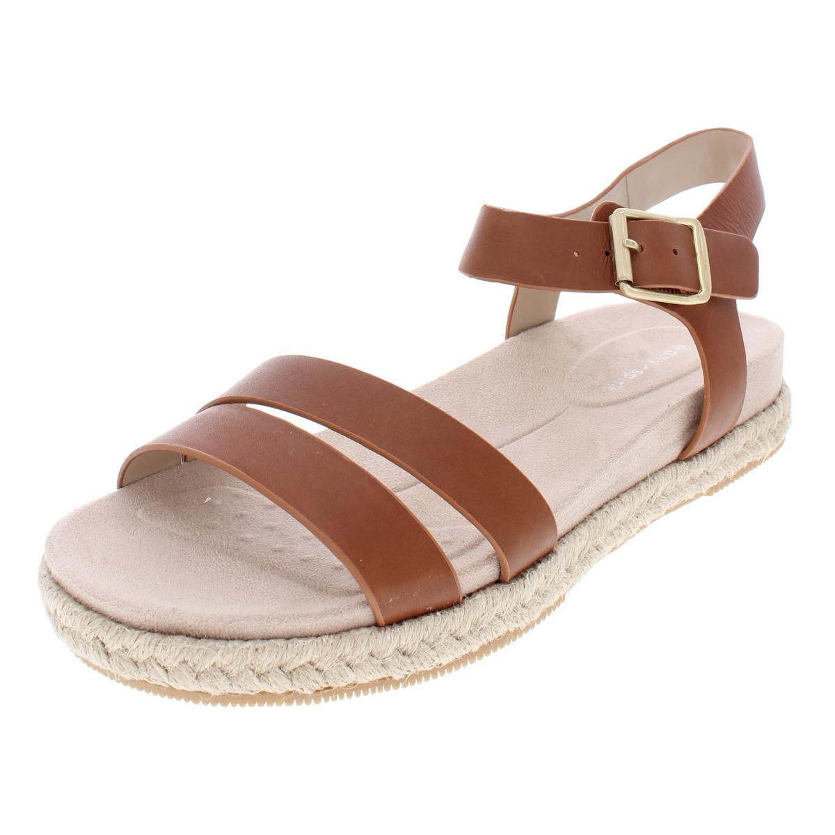 ab30a3836126 Details about Easy Spirit Womens Ixia Solid Leather Platform Espadrilles  Sandals BHFO 4555