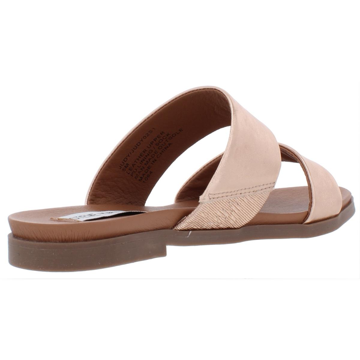 Steve-Madden-Womens-Judy-Leather-Sandals-Flats-Shoes-BHFO-7653 thumbnail 9