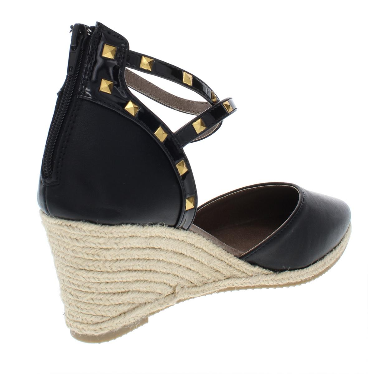 0be4ad093d6 Rialto Womens Campari Studded Espadrille Wedge Sandals Shoes BHFO ...