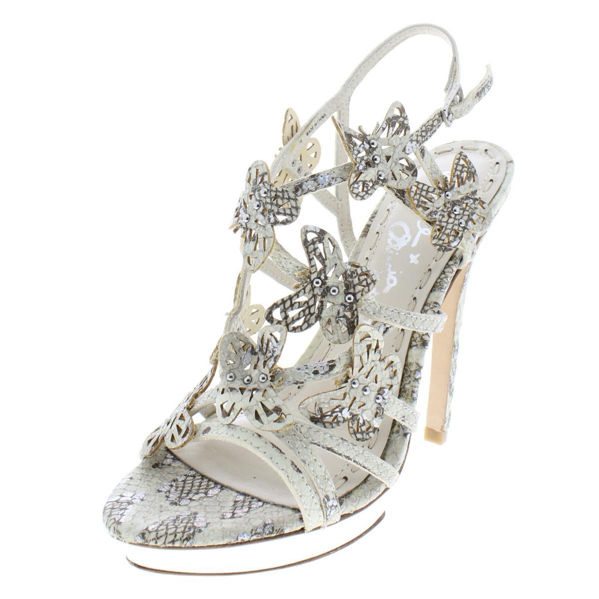 Alice Olivia donna Maria Ivory Evening Sandals 36  Medium (B,M) BHFO 5868  godendo i tuoi acquisti