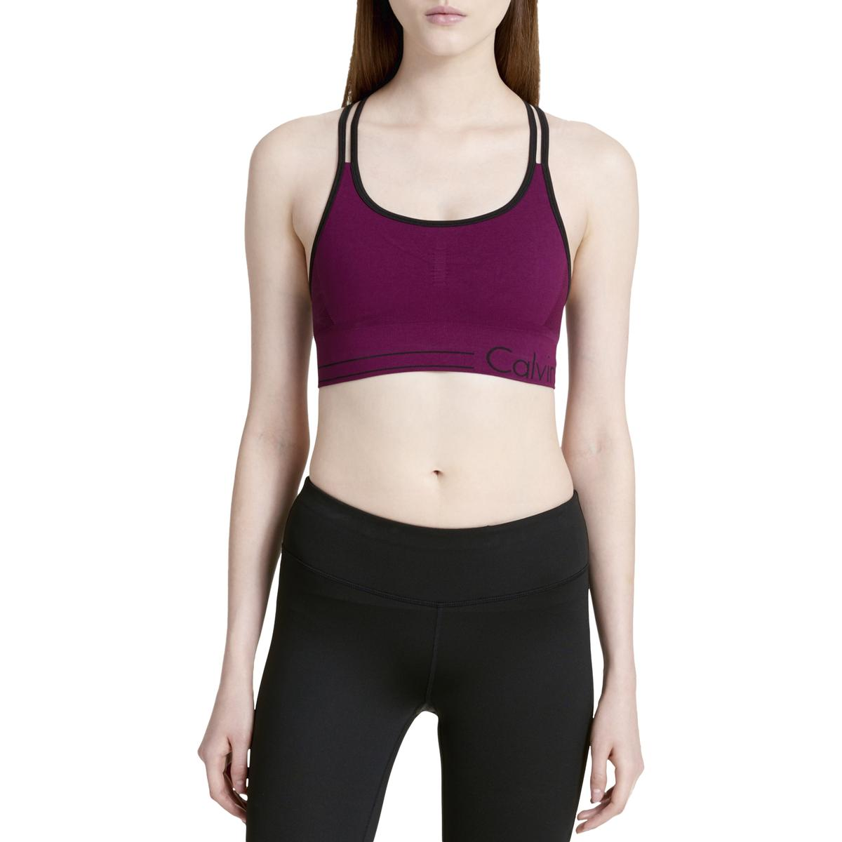 e380b7275b Calvin Klein Performance Womens Red Low Impact Sports Bra Athletic S ...