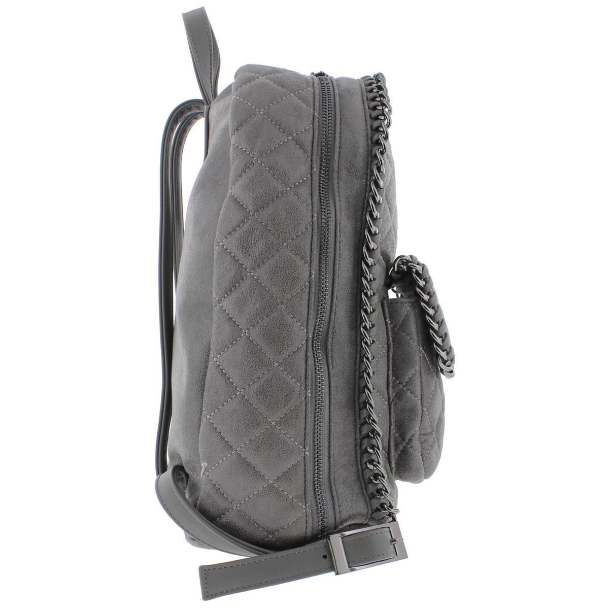 Urban-Expressions-Womens-Caleb-Vegan-Leather-Chain-Trim-Backpack-Purse-BHFO-7489 thumbnail 6