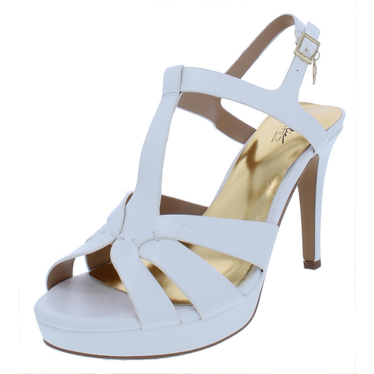 767a26c08a5b Details about Thalia Sodi Womens Velda White Platform Sandals Shoes 9 Wide  (C