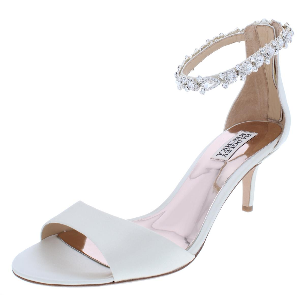 Badgley Mischka Womens Geranium Ivory Dress Sandals 10 Medium (B,M) BHFO 8707
