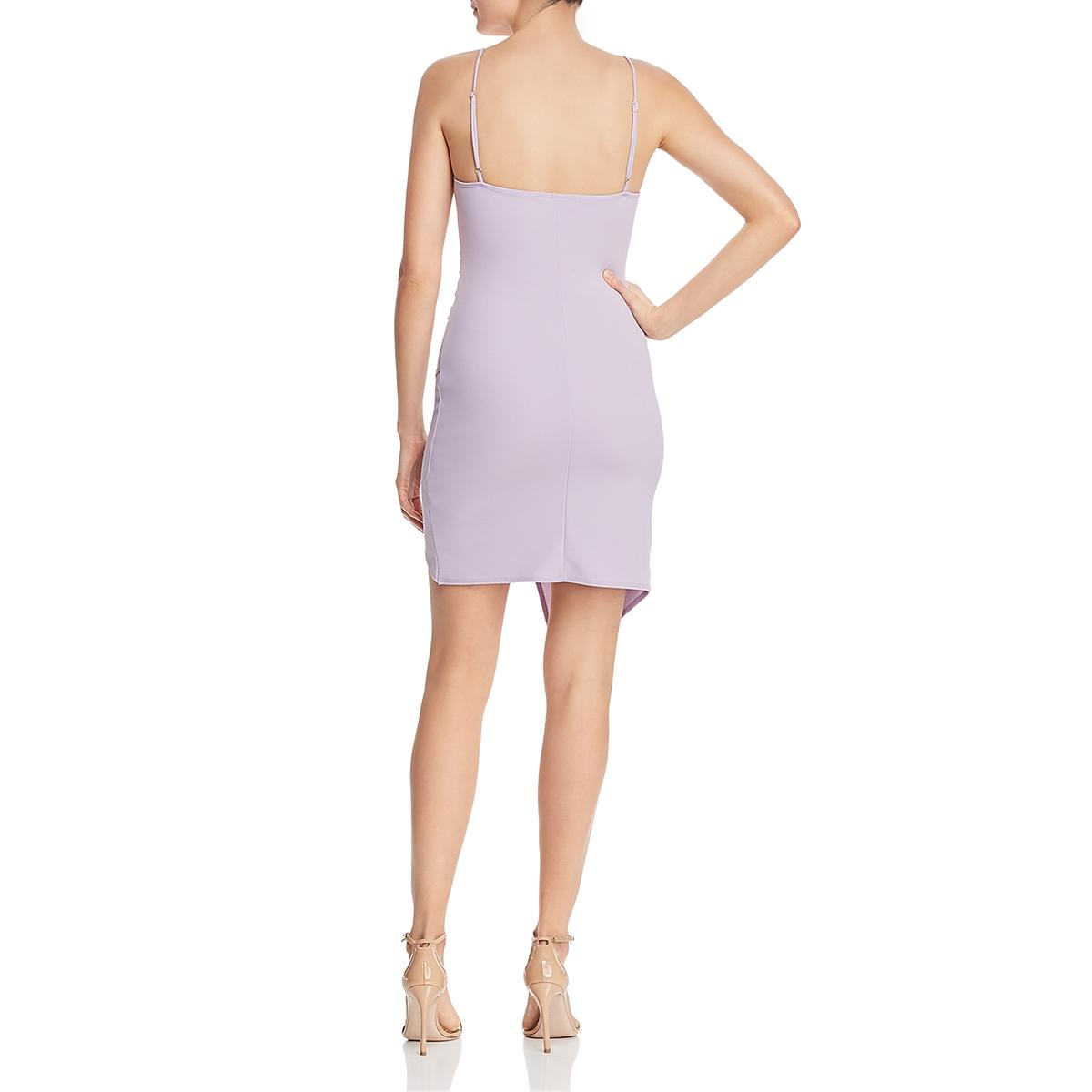 Sunset /& Spring Womens Faux Wrap Ruched Party Cocktail Dress BHFO 0659