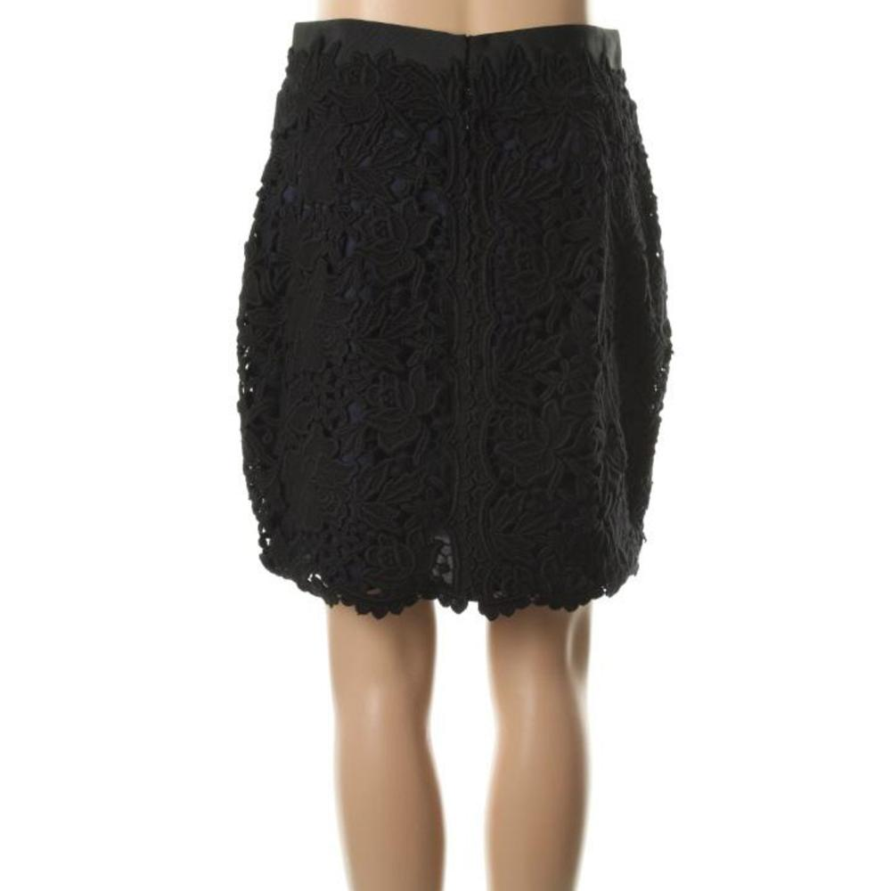 elie tahari new bennet black cotton lace above knee pencil