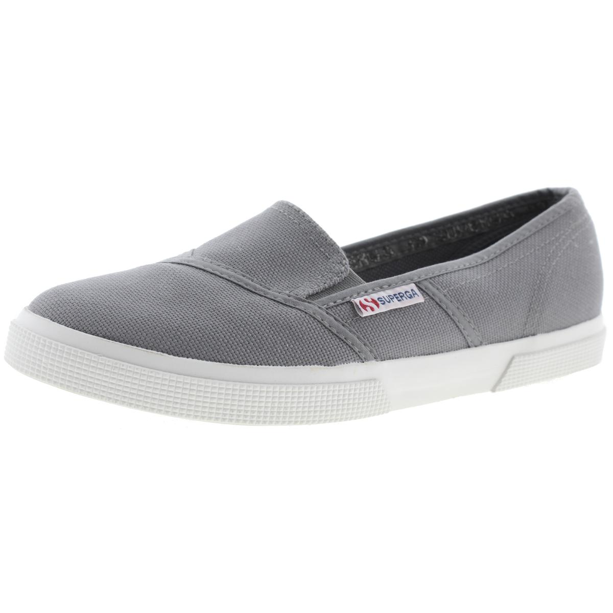 eab9d4fdc7f Details about Superga Womens 2210 COTW Gray Canvas Loafers Shoes 10 Medium ( B