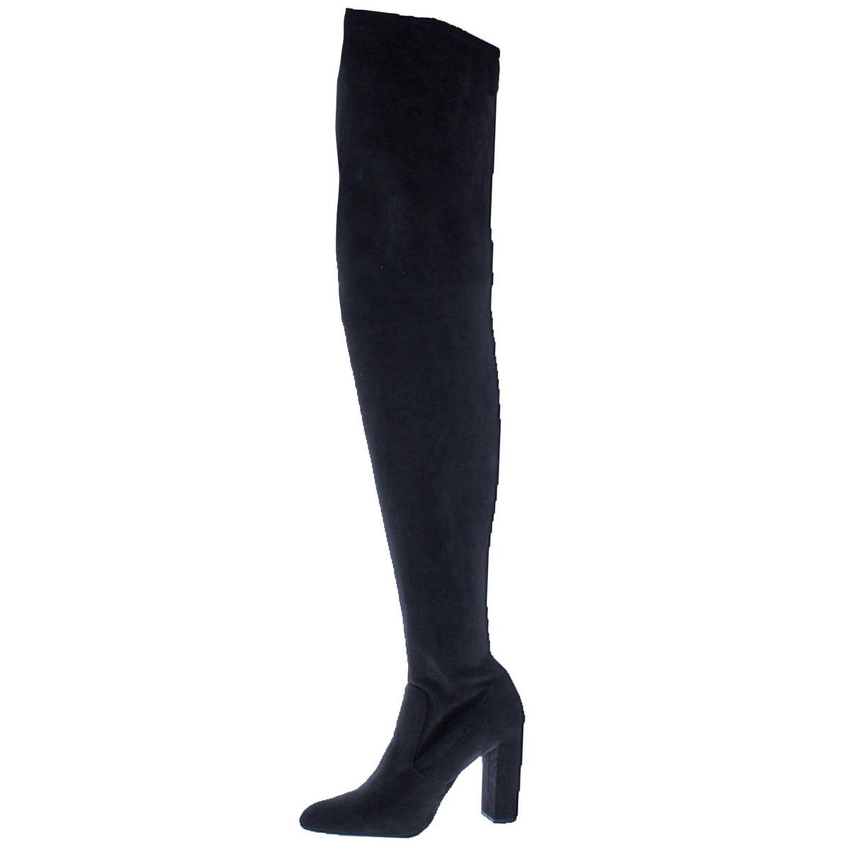 2ab653b22eb Steve Madden Womens Ezra Black Thigh-High Boots Shoes 7 Medium (B