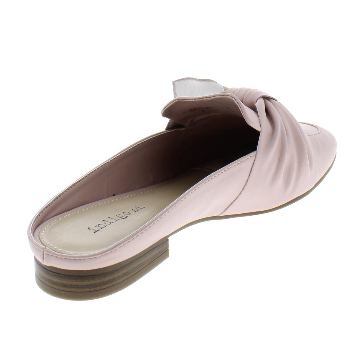 Indigo-Rd-Womens-Maggie-Faux-Leather-Almond-Toe-Loafer-Mule-Flats-BHFO-4720 thumbnail 6